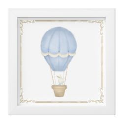 Quadro Coelho no Balão Azul