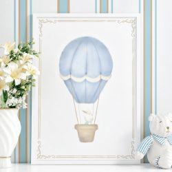 Quadro Coelho no Balão Azul 87cm