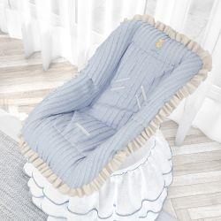 Capa para Bebê Conforto Urso Tricot Luxo Azul