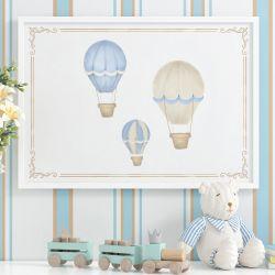 Quadro Balões Azul 87cm