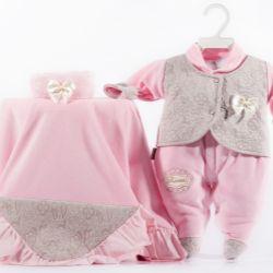 Saída Maternidade Plush Princesa Rosa