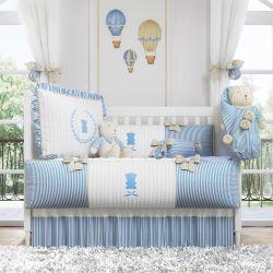 Quarto de Bebê Tricot Luxo Azul
