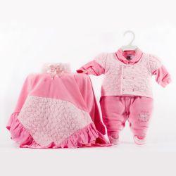 Saída Maternidade Plush Fofura da Mamãe Rosa