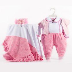 Saída Maternidade Suedine Verão Florido Rosé