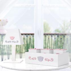 Kit Acessórios Ursa Luxo Rosa