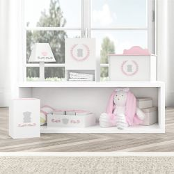 Kit Higiene Ursa Tricot Luxo Rosa