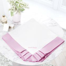 Manta Luxo Branca/Rosa