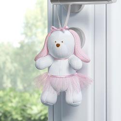 Enfeite para Puxador Coelha Tricot Luxo Rosa