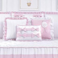 Almofadas Tricot Luxo Rosa 3 Peças