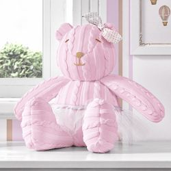Ursa Tricot Luxo Rosa 42cm
