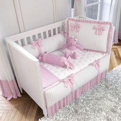 Quarto de Bebê Tricot Luxo Rosa