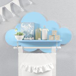 Prateleira Nuvem com Varão Azul