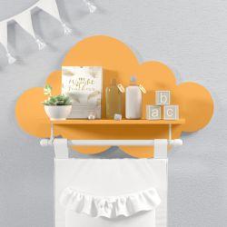 Prateleira Nuvem com Varão Laranja