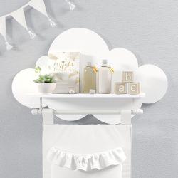 Prateleira Nuvem com Varão Branco