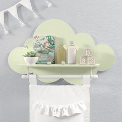 Prateleira Nuvem com Varão Verde
