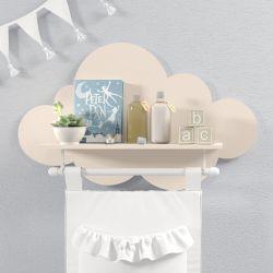 Prateleira Nuvem com Varão Salmão