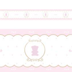 Faixa Adesiva de Parede Ursa Luxo Rosa