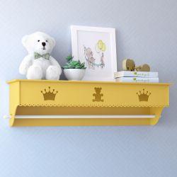 Prateleira com Varão Urso Realeza Amarelo