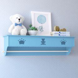 Prateleira com Varão Urso Realeza Azul