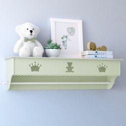 Prateleira com Varão Urso Realeza Verde