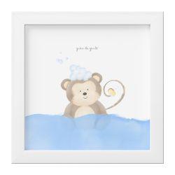 Quadro Amiguinho Macaco no Banho
