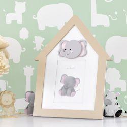 Porta Retrato MDF Amiguinho Elefante 10cm x 15cm