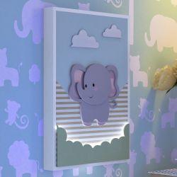 Quadro LED MDF Amiguinho Elefante 32cm