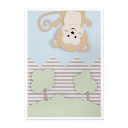 Quadro Amiguinho Macaco 36cm