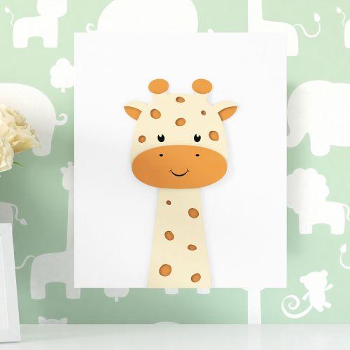 Quadro MDF Amiguinha Girafa 30cm