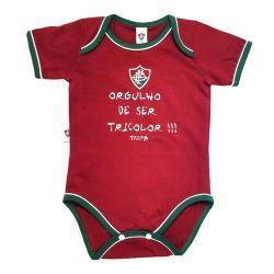 Body Manga Curta Oficial Fluminense Orgulho de Ser Tricolor