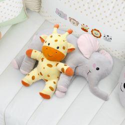 Almofada Travesseiro Elefante de Pelúcia 62cm