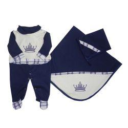 Saída Maternidade Coroa Imperial Xadrez