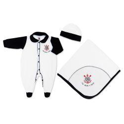 Saída Maternidade Plush Oficial Corinthians Fiel Desde o Berço