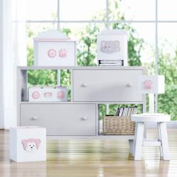 Kit Higiene Amiguinhas Safári Rosa