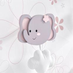 Cabideiro de Parede Elefante Rosa