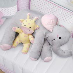 Almofada Travesseiro Elefante de Pelúcia 82cm