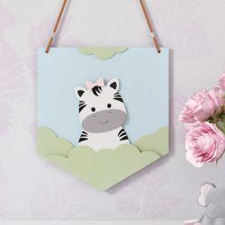 Flâmula MDF Amiguinha Zebra