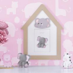 Porta Retrato MDF Amiguinha Elefante 10cm x 15cm
