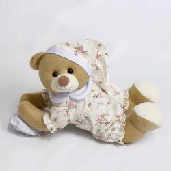 Ursa Soneca Pijama Floral 18cm