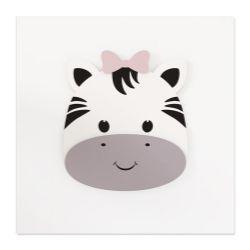 Quadro MDF Amiguinha Zebra 25cm