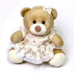 Ursa com Vestido Floral 18cm