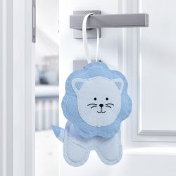 Enfeite para Puxador Leão Amiguinhos Safári Azul