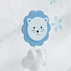 Cabideiro de Parede Leão Azul