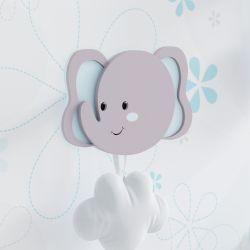 Cabideiro de Parede Elefante Azul