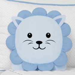 Almofada Amiguinho Leão Azul 32cm