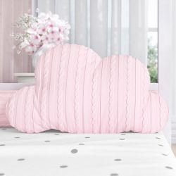 Almofada Nuvem Tricot Rosa 50cm