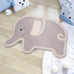 Tapete Amiguinho Elefante Azul 90cm