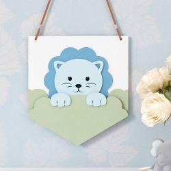 Flâmula MDF Amiguinho Leão Azul