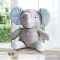 Bichinho de Pelúcia Amiguinhos Safári Elefante Azul 45cm