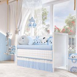 Quarto de Bebê Amiguinhos Safári Azul